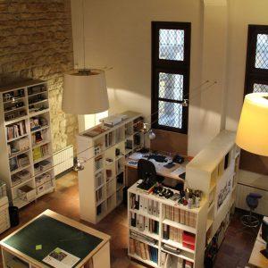 Bibliothèque vue de haut